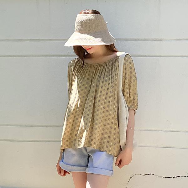 misscandy-[no.18971 셔링넥 루즈핏 레이온블라우스]♡韓國女裝上衣