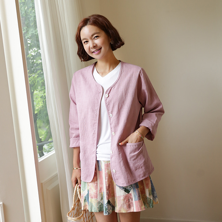 lemite-가볍게 린넨자켓(린넨100%)♡韓國女裝外套