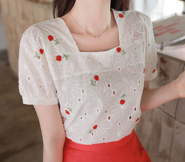 myfiona-펀칭로즈*blouse/a0504♡韓國女裝上衣