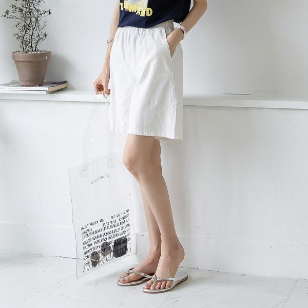 misscandy-[no.19085 베이직 4부 밴딩바지]♡韓國女裝褲