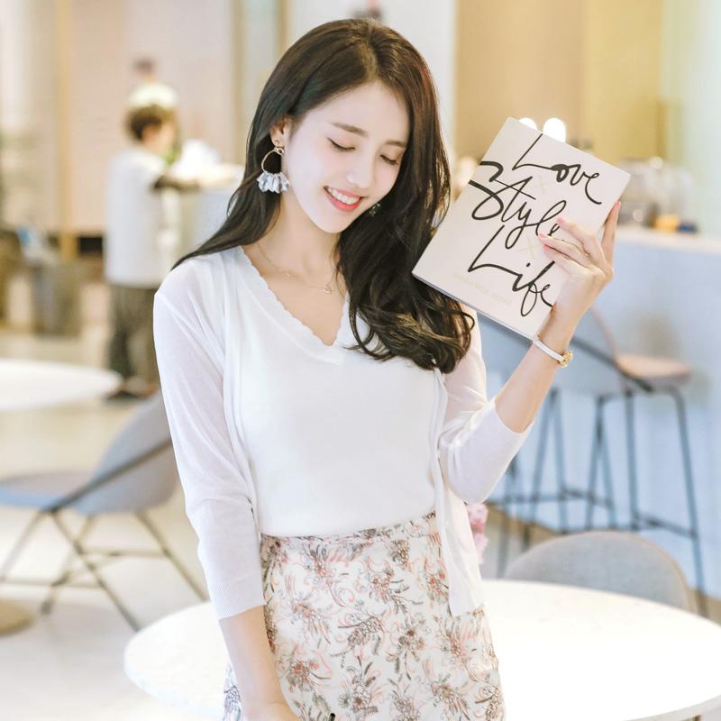 attrangs-cd849 데일리하게 입기좋은 썸머 7부 미니가디건 cardigan♡韓國女裝外套