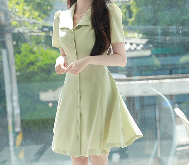 myfiona-에이라인소녀*ops/a0536♡韓國女裝連身裙