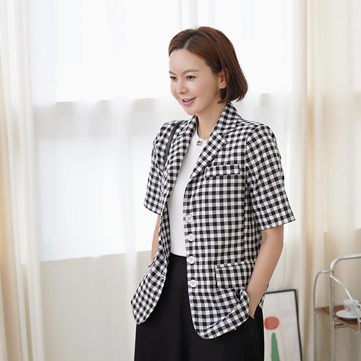 lemite-체크랑 자켓♡韓國女裝外套