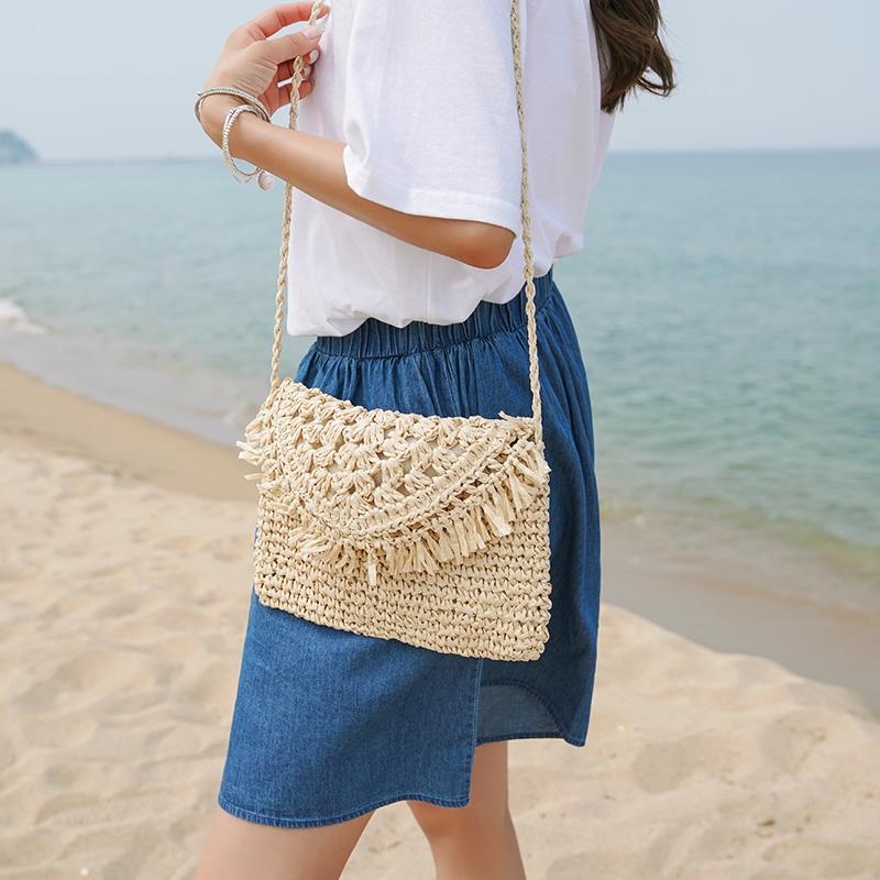 clicknfunny-[러멘드 라탄크로스백]♡韓國女裝袋