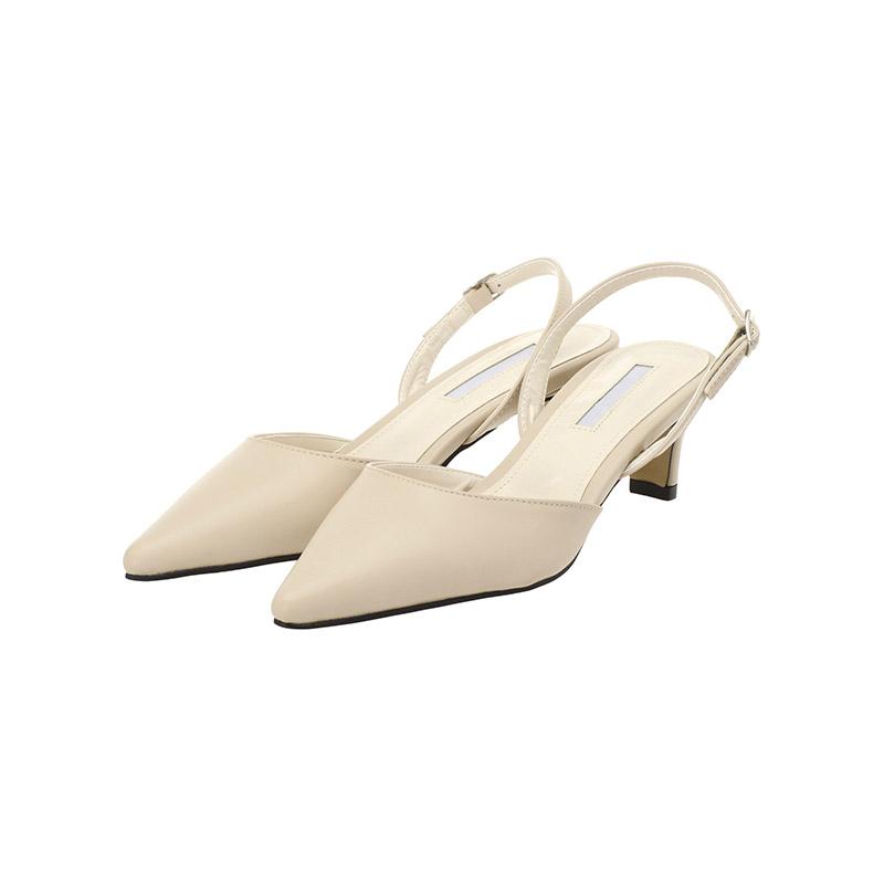 attrangs-sh1567 사이드 스트랩으로 사이즈 조절가능한 스틸레토 슬링백 미들힐 shoes♡韓國女裝鞋