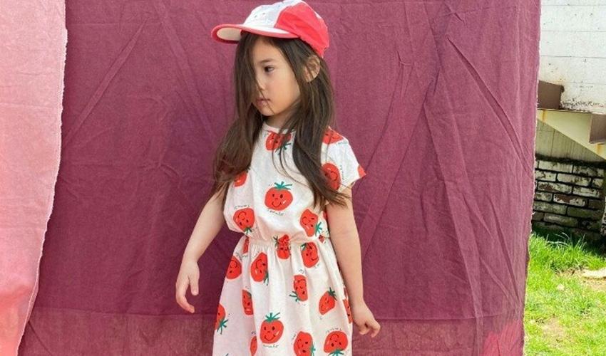 lovely2min-미니피에스마켓 토마토 원피스 (아동복) - lovely2min♡韓國童裝連身裙