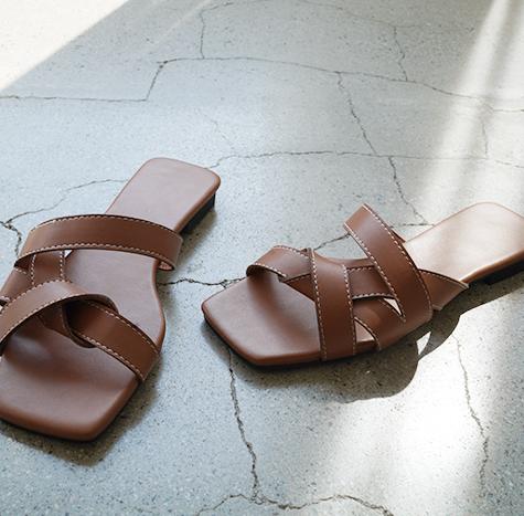 leelin-[꼬임 스트랩 슬리퍼 슈즈]♡韓國女裝鞋