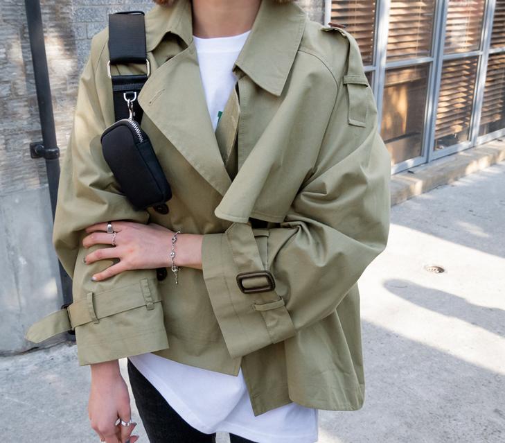 lylon-크롬트렌치숏자켓♡韓國女裝外套