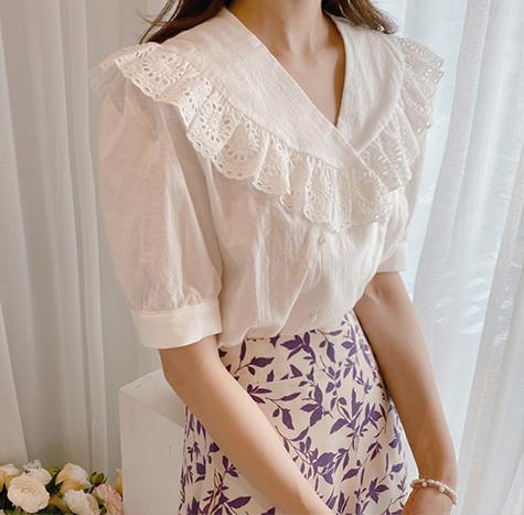leelin-[리아엘 프릴 블라우스]♡韓國女裝上衣