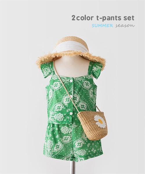 harukids-페이즐리상하세트 [세트BBXR31]♡韓國童裝套裝