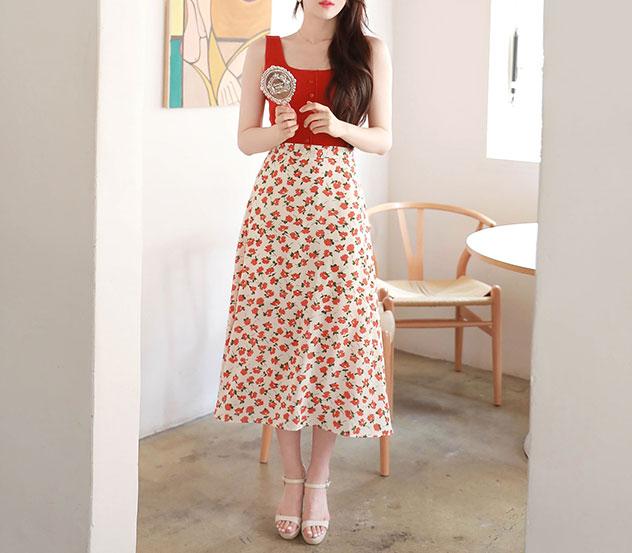 myfiona-자몽플라워*set/a0517♡韓國女裝套裝