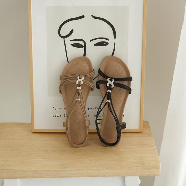 canmart-[라냐큐빅스트랩샌들 C062914]♡韓國女裝鞋