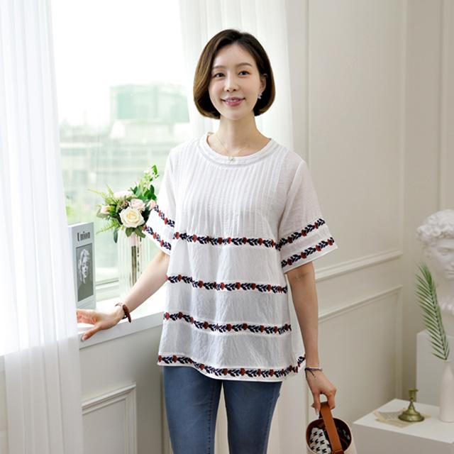 tiramisu-543모모핀턱주름블라우스♡韓國女裝上衣