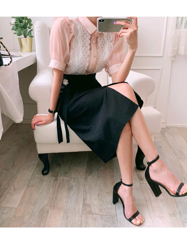 babirolen-[코튼 타이-sk]♡韓國女裝裙