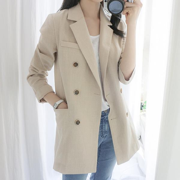 misscandy-[no.17234 테일러드 더블버튼 코튼자켓]♡韓國女裝外套