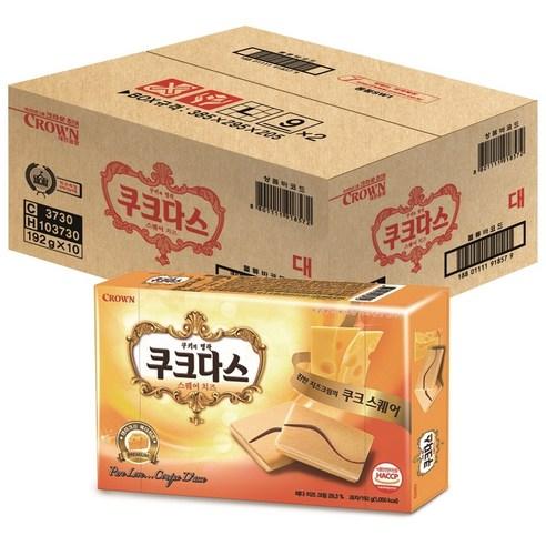 韓國 Crown 芝士味夾心餅乾 一盒/12p 192g
