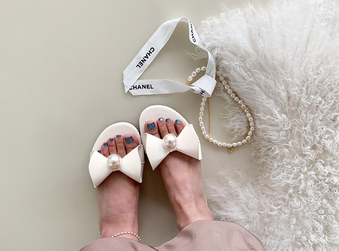 naning9-포포링 리본슬리퍼(B07)♡韓國女裝鞋