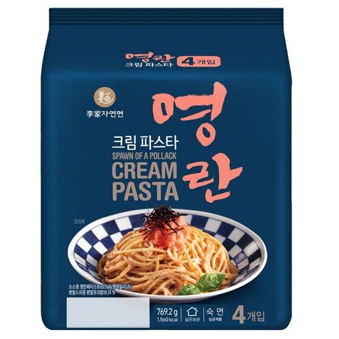 韓國李家明太子忌廉紫菜奶油意粉(4包裝)