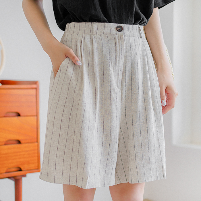 09women-[카멘 뒷밴딩 린넨 숏팬츠 50051]♡韓國女裝褲