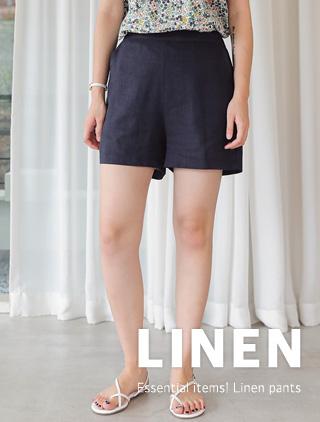jstyleshop-[블라엔 린넨 3.5부 팬츠]♡韓國女裝褲