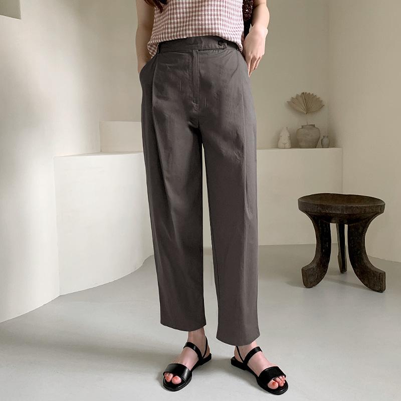 laurenhi-헤이티 핀턱 롱 팬츠 - 2 color        ♡韓國女裝褲