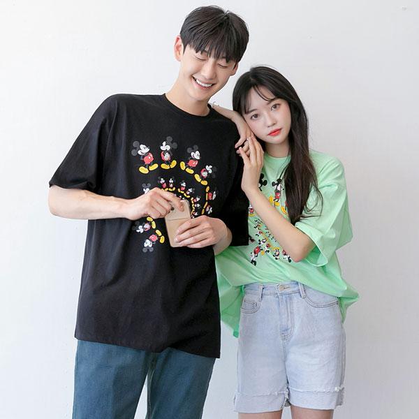 tomonari-토모나리(TOMONARI) [에디 미키 루즈핏 반팔 티셔츠]♡韓國男裝上衣