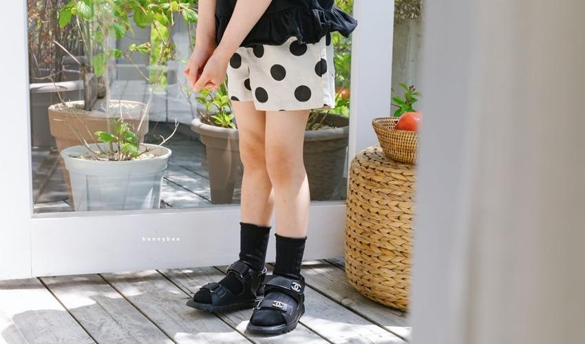 lovely2min-허니비 도트버뮤다 팬츠 (아동복) - lovely2min♡韓國童裝褲