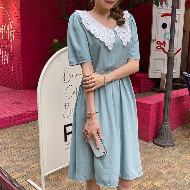 cherryville-[소원을말해봐 카라원피스]♡韓國女裝連身裙