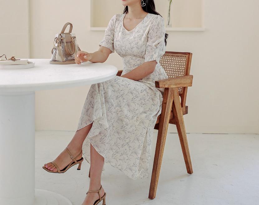 ririnco-딤프 스트랩 롱 원피스♡韓國女裝連身裙