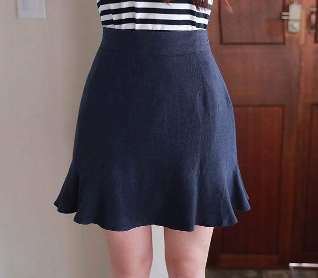 myfiona-프릴린넨*skirt/a0514♡韓國女裝裙