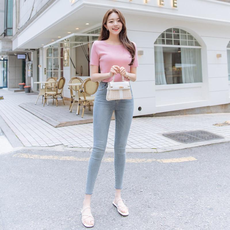 attrangs-ps2222 신장에 맞게 선택할 수 있는 3기장 구성의 그레이톤 워싱 찰떡핏 데님 스키니진 pants♡韓國女裝褲