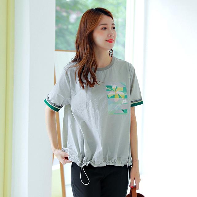 tiramisu-0703메탈포인트바스락블라우스♡韓國女裝上衣