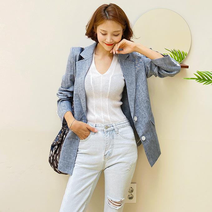 wingsmall-떠나보자멀리(헤링린넨싱글JK)♡韓國女裝外套