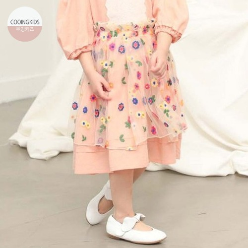 cooingkids-H블라썸스커트♡韓國女童裙子