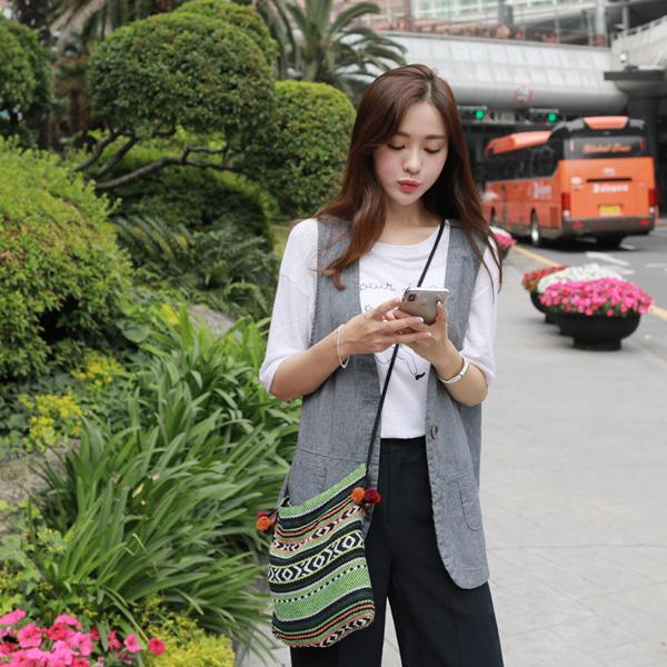 clicknfunny-[요이 스트라이프베스트]♡韓國女裝外套