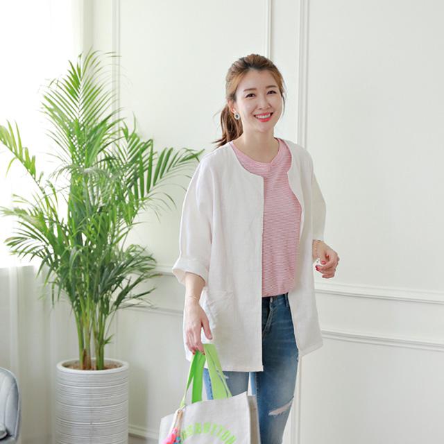 tiramisu-8766루즈핏린넨자켓♡韓國女裝外套