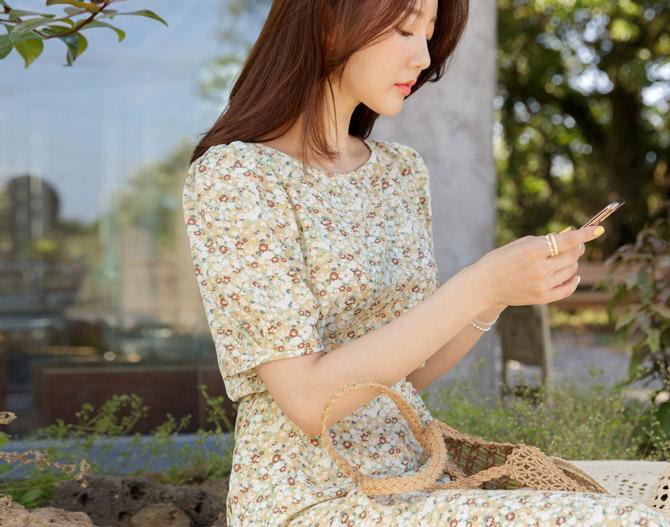chichera-시크헤라 [그린티플라워원피스]♡韓國女裝連身裙