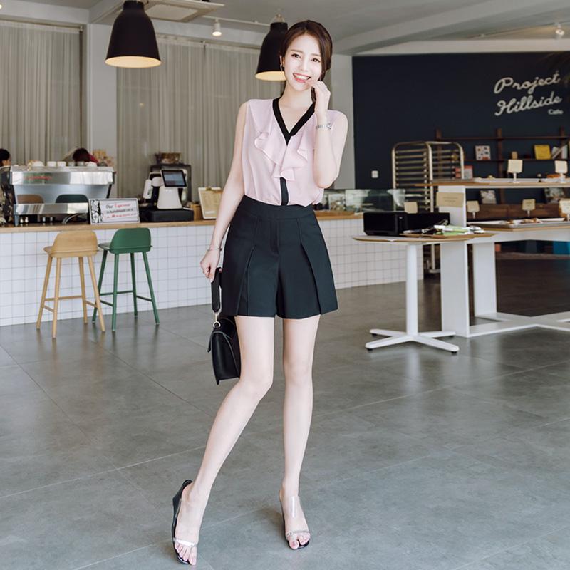 attrangs-ps1399 하이퀄리티 원단의 절개포인트 썸머 치마바지 pants♡韓國女裝褲
