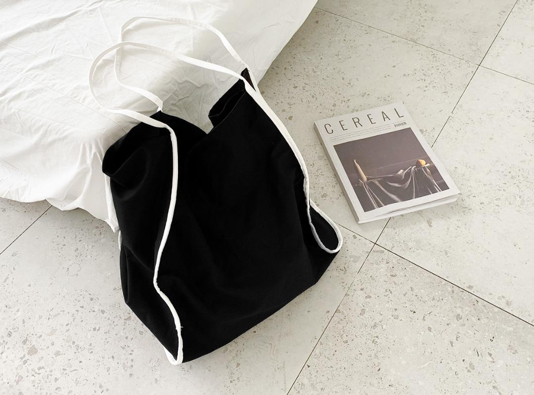 naning9-코메츠 배색에코백(B05)♡韓國女裝袋