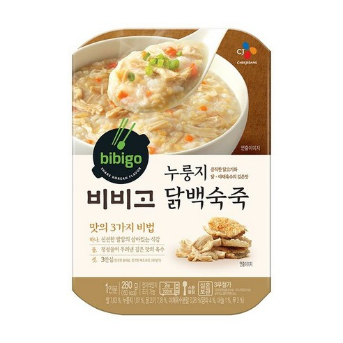 Bibigo 비비고 飯焦雞絲即食粥 280g