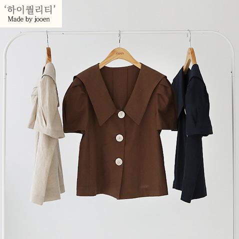 jooen-BL2631/Linen Sailor Collar, Jacket Bl(55~통통66)♡韓國女裝外套
