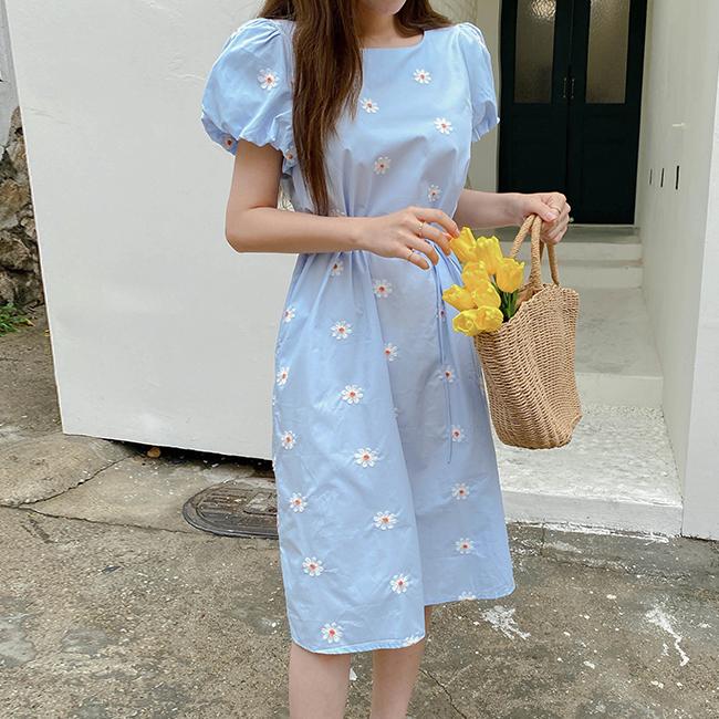 cherryville-[해바라기활짝 원피스]♡韓國女裝連身裙