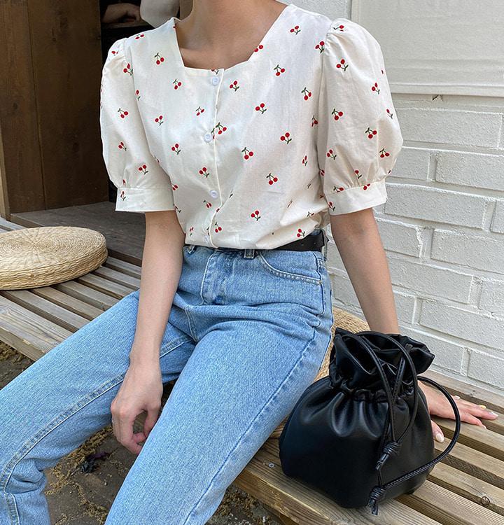 可愛櫻桃襯衫