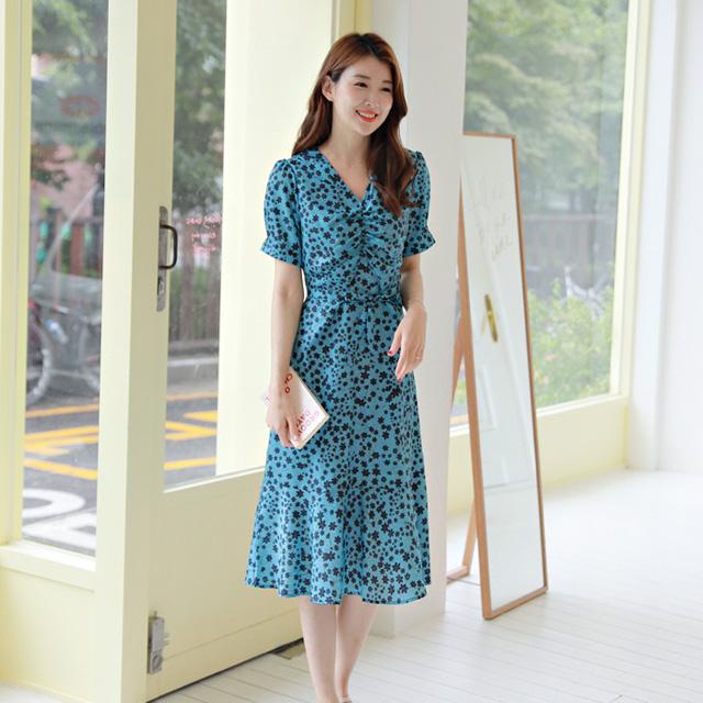 tiramisu-0709블루문셔링원피스♡韓國女裝連身裙