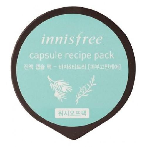 Innisfree 精華膠囊面膜 - 榧子 & 茶樹 10 ml (到期日: 2019年7月)
