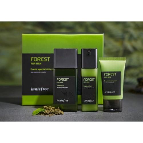Innisfree 森林系列 - 男士清爽護膚套裝 - 混合及油性皮膚用 (到期日: 2020年10月)