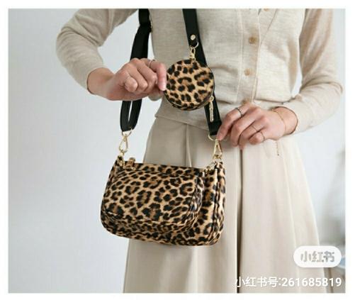 ROOTY-AP-- 女士豹紋時尚氣質單肩包&