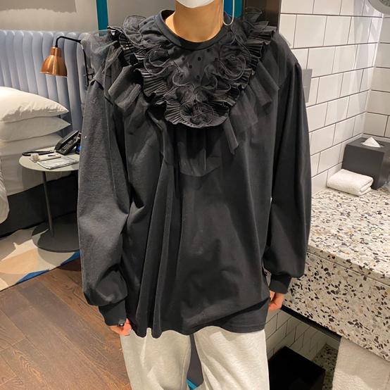 FRANC-L-- 女士時尚拼接長袖T卹衫不含其它