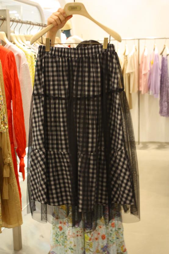 FORMING-AP-- 女士時尚休閑格子雙層襯裙