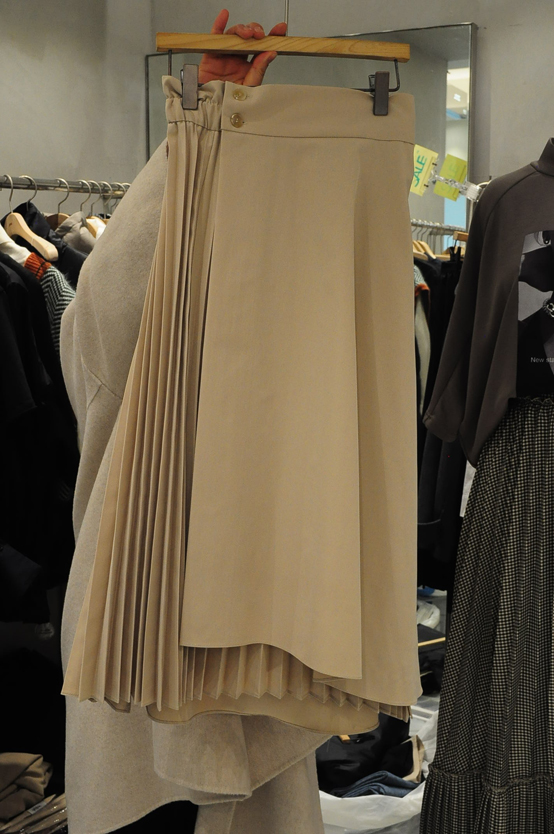 ZOOL-- 女士風琴褶束腰時尚迷笛裙